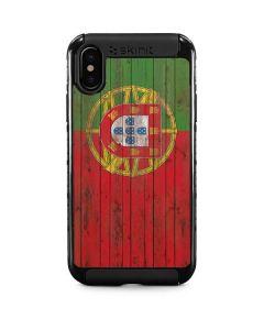 Portuguese Flag Dark Wood iPhone X Cargo Case