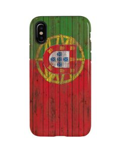 Portuguese Flag Dark Wood iPhone X Pro Case