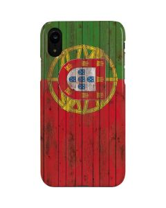 Portuguese Flag Dark Wood iPhone XR Lite Case
