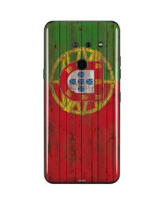 Portuguese Flag Dark Wood LG G8 ThinQ Skin