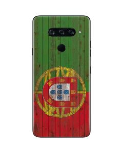Portuguese Flag Dark Wood LG V40 ThinQ Skin