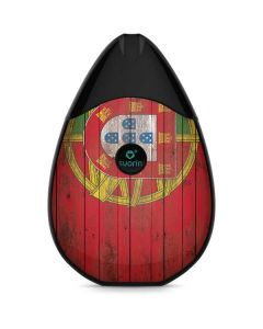 Portuguese Flag Dark Wood Suorin Drop Vape Skin