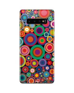 Psychedelic Circles Galaxy S10 Plus Skin