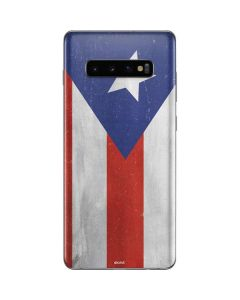 Puerto Rico Flag Distressed Galaxy S10 Plus Skin