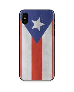 Puerto Rico Flag Distressed iPhone XS Skin