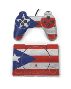 Puerto Rico Flag Distressed PlayStation Classic Bundle Skin