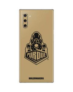 Purdue Gold Signature Logo Galaxy Note 10 Skin