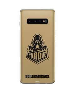 Purdue Gold Signature Logo Galaxy S10 Plus Skin
