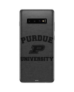 Purdue Grey Logo Galaxy S10 Plus Skin