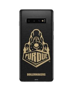 Purdue University Signature Logo Galaxy S10 Plus Skin