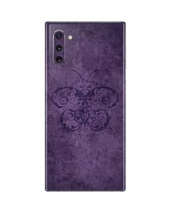 Purple Damask Butterfly Galaxy Note 10 Skin