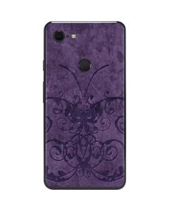 Purple Damask Butterfly Google Pixel 3 XL Skin