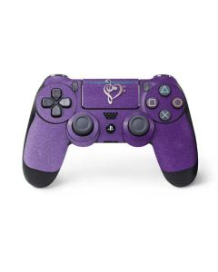 Purple Glitter Musical Heart PS4 Pro/Slim Controller Skin