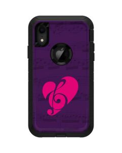 Purple Musical Notes Otterbox Defender iPhone Skin