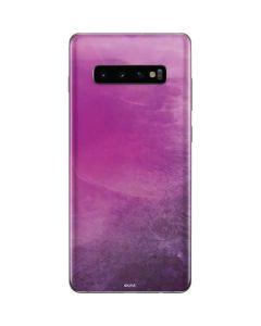 Purple Space Marble Galaxy S10 Plus Skin