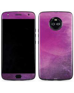 Purple Space Marble Moto X4 Skin