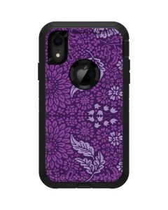 Radiant Orchid Floral Otterbox Defender iPhone Skin