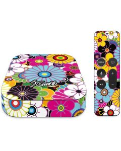 Rainbow Flowerbed Apple TV Skin