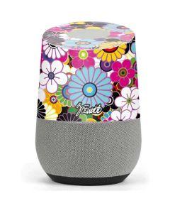 Rainbow Flowerbed Google Home Skin