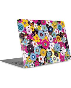 Rainbow Flowerbed Apple MacBook Air Skin