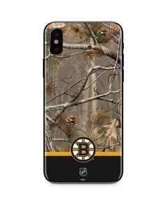 Realtree Camo Boston Bruins iPhone XS Skin