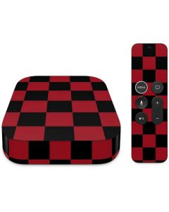 Red and Black Checkerboard Apple TV Skin