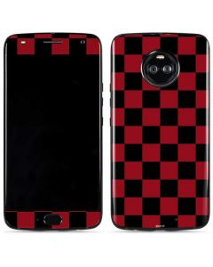 Red and Black Checkerboard Moto X4 Skin