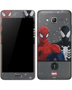 Red and Black Spider-Man Galaxy Grand Prime Skin
