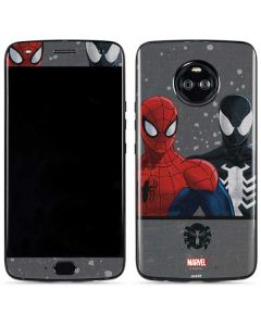 Red and Black Spider-Man Moto X4 Skin