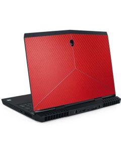 Red Carbon Fiber Dell Alienware Skin