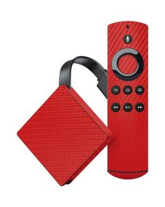 Red Carbon Fiber Amazon Fire TV Skin