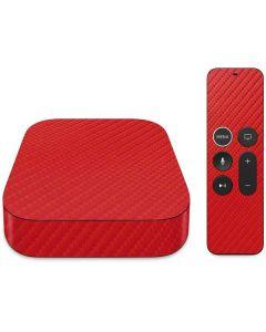 Red Carbon Fiber Apple TV Skin