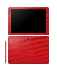 Red Carbon Fiber Galaxy Book 12in Skin