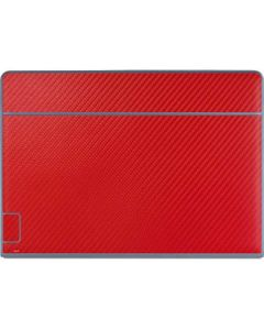 Red Carbon Fiber Galaxy Book Keyboard Folio 12in Skin