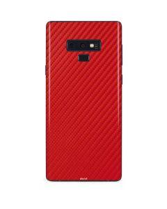 Red Carbon Fiber Galaxy Note 9 Skin