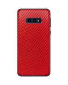 Red Carbon Fiber Galaxy S10e Skin