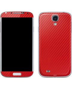 Red Carbon Fiber Galaxy S4 Skin