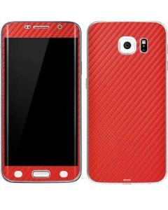 Red Carbon Fiber Galaxy S6 Edge Skin
