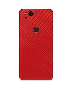 Red Carbon Fiber Google Pixel 2 Skin