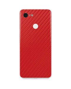 Red Carbon Fiber Google Pixel 3 Skin