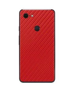 Red Carbon Fiber Google Pixel 3 XL Skin