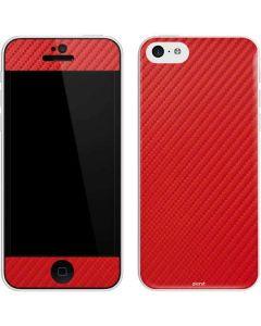 Red Carbon Fiber iPhone 5c Skin