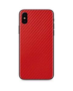 Red Carbon Fiber iPhone XS Skin