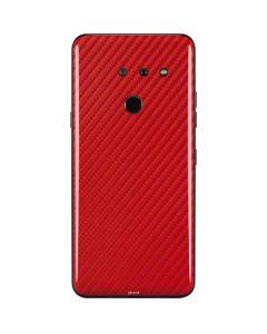 Red Carbon Fiber LG G8 ThinQ Skin