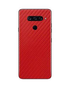 Red Carbon Fiber LG V40 ThinQ Skin