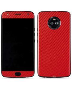Red Carbon Fiber Moto X4 Skin