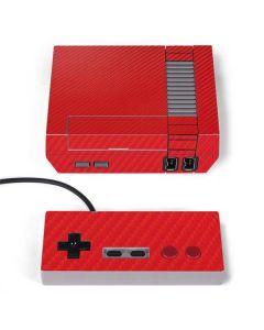 Red Carbon Fiber NES Classic Edition Skin