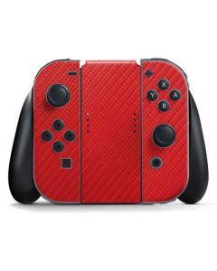 Red Carbon Fiber Nintendo Switch Joy Con Controller Skin