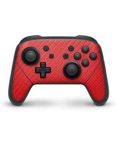 Red Carbon Fiber Nintendo Switch Pro Controller Skin