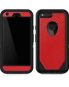 Red Carbon Fiber Otterbox Defender Pixel Skin